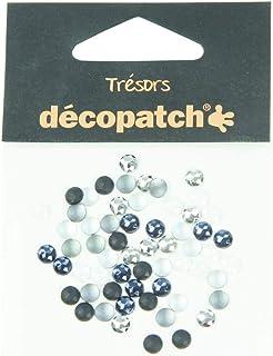 Décopatch Trésors Plastic Embelishments, 5 mm - Black/White, Pack of 60