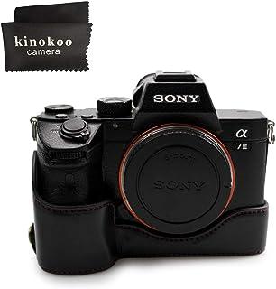 kinokoo SONY ソニー A9/A7R III (A7R3)/A7Ⅲ 専用カメラケース ILCE-9/A7R3 ボディケース バッテリーの交換でき 三脚ネジ穴付き 標識クロス付き (ブラック)