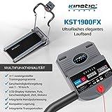 Kinetic Sports KST1900FX Laufband klappbar elektrisch flach 500 Watt leiser Elektromotor, bis 120 kg, GEH- und Lauftraining, Tablethalterung, stufenlos einstellbar bis 10 km/h - 4