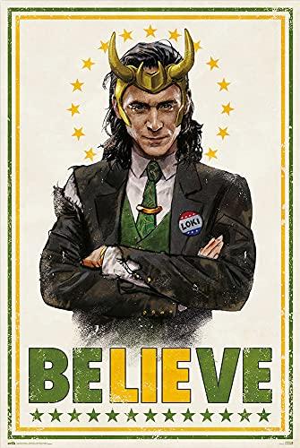 Loki - TV Show Poster (BELIEVE) (Size: 24' x 36')