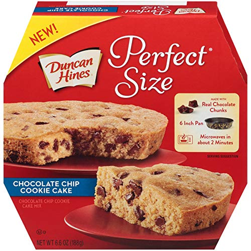 Duncan Hines Easy Cake Kit Chocolate Chip Cookie Cake Mix, 6.6 OZ