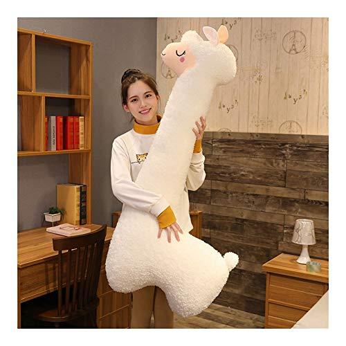 HOUMEL Riesen Alpaca-Plüsch-Spielzeug, Nette Baby-Kissen-Kissen, Lange Seitenschläferkissen Bein Cuddle Tröster-Spielzeug for Kleinkinder Babys, begleitend zu, um zu schlafen, Geburtstagsgeschenk 290
