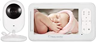 Baby Monitor 4.3-inch HD LCD Screen Built-in Baby Lullaby with Temperature Display Two-Way Intercom Function Baby Monitor,...