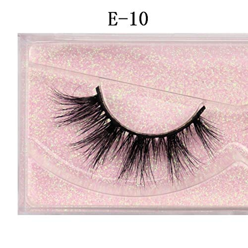 EDK Cils cruauté à la Main Cils 3D Pleine Bande Faux Faux Cils Maquillage Cils, E-10