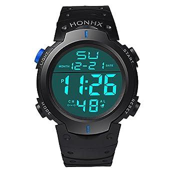 Sport Watch 50M Waterproof Watch Sport Wrist Watch for Men Women Kids Digital Watch with Alarm Date and Time  Blue2