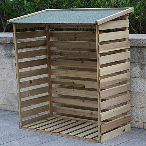 Gr8 Garden Wooden Log Store Shed Double Wheelie Bin Rubbish Dustbin Storage Cover