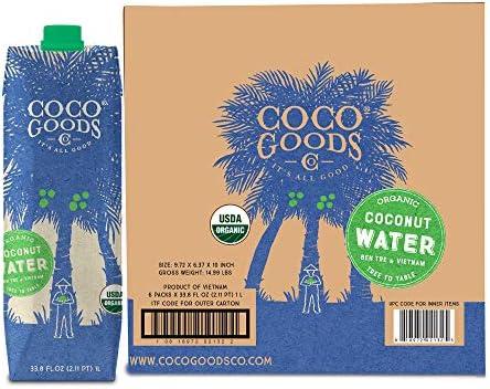 CocoGoodsCo Vietnam Single Origin 100 Organic Coconut Water Non GMO Never from Concentrate 33 product image