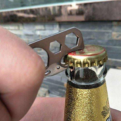 Llavero de acero inoxidable, llave micro multiherramienta para llavero Auto Camping Hardware