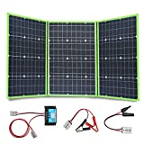 XINPUGUANG 150W 12V Portable Solar Charger Foldable Solar Panel Generator with Charge Controller for Battery Camping Travel RV Van...