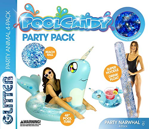 Poolcandy Animal Party 4-Pack, Narwhal