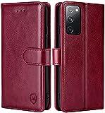 FMPCUON Hülle für Samsung Galaxy S20 FE 4G/5G Handyhülle [Standfunktion] [Magnetverschluss] Tasche Flip Hülle Schutzhülle lederhülle flip case für Samsung Galaxy S20 FE 4G/5G Rot