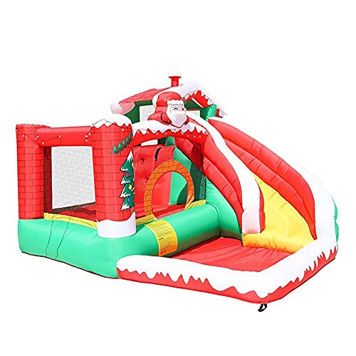 YQGOO Parque Inflable del tobogán acuático, Castillo Hinchable Inflable para niños, Parque Inflable para niños y niñas, trampolín Multifuncional para niños al Aire Libre, 330x300x220cm,
