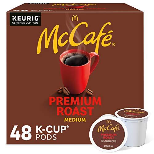 McCafé Premium Roast, Keurig Single Serve K-Cup Pods, Medium Roast Coffee Pods, 48 Count