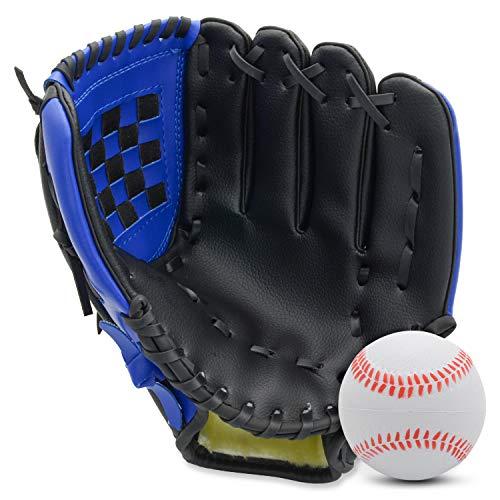 Baseball Glove for Kids Youth Adult, Softball Mitt Left Hand Glove 10.5''-12.5'', Right Hand Throw