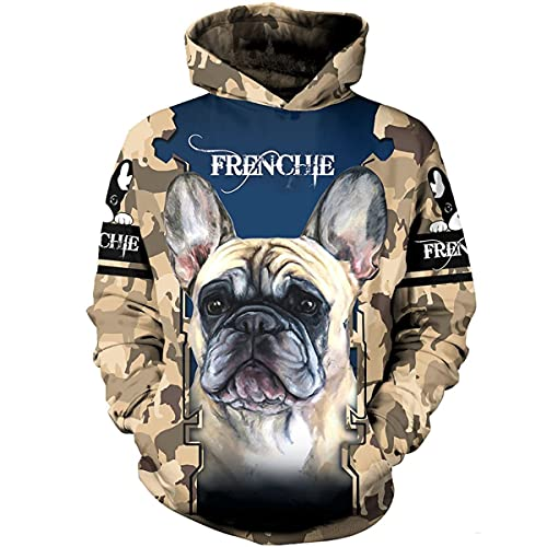 Love Frenchie Camo 3D All Over Printed T-Shirt, Hoodie, Zip Hoodie, Sweatshirt Full Size S - 3XL, 4XL, 5XL for Men and Women