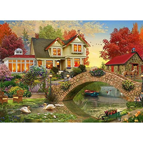EVAEVA Diamond Painting Set,Natürlich Landschaft, 5D Diamant Painting Set Full Stickerei Groß Bilder DIY Diamonds Malerei, 30x40cm