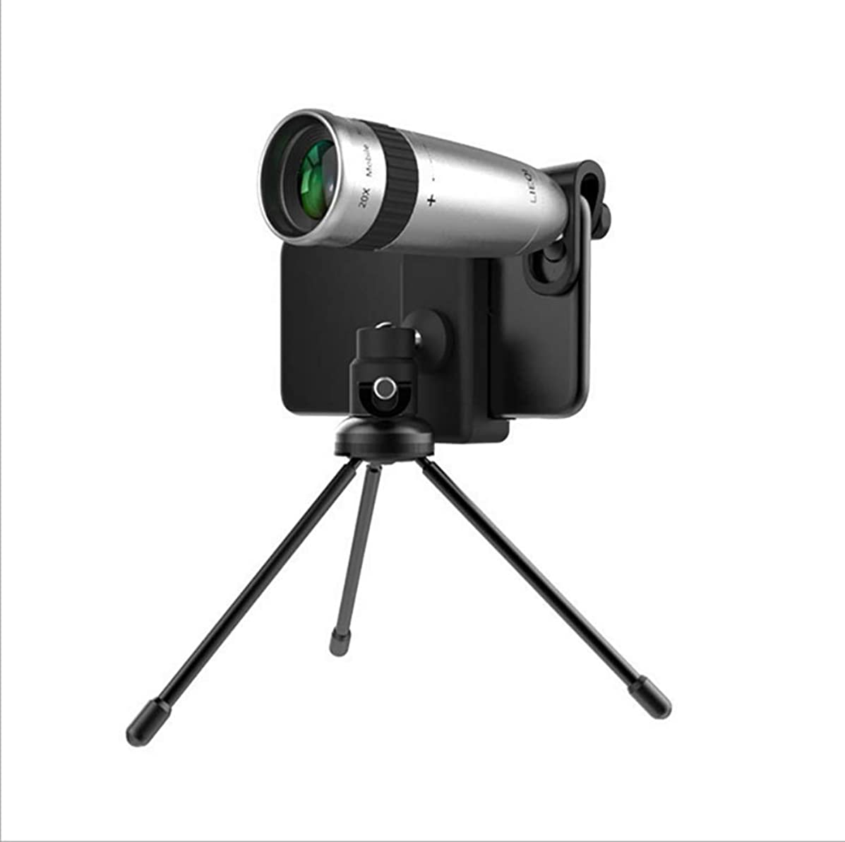 20X Mobile Phone Telephoto Telescope Head Zoom External Camera HD SLR Phone Lens Universal Clip Tripod for iPhone, Samsung, LG,HTC,Huawei and Other Smartphone