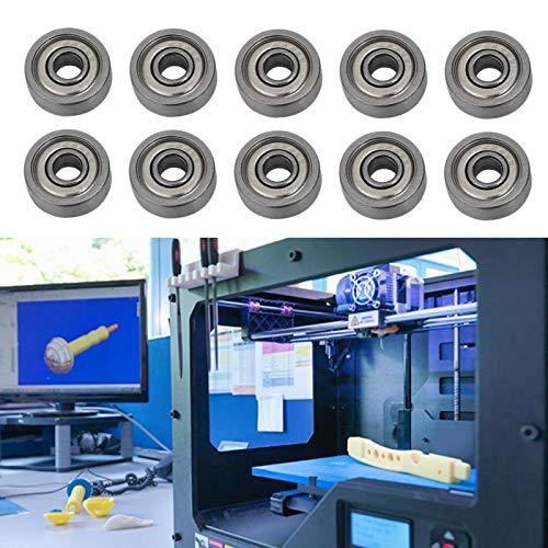 Shipenophy 10 Piezas de bajo Ruido 624ZZ con Micro rodamientos para Impresora 3D