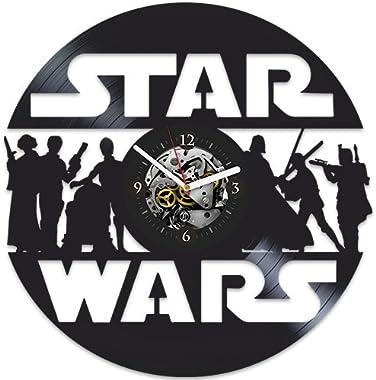 Star Wars Clock, Vintage Vinyl Record, Star Wars Gift for Man, Darth Vader, Xmas Gift for Man, Gift Ideas for Fans Star Wars,