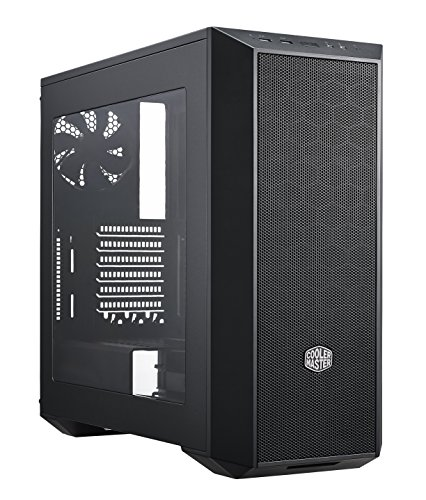 Cooler Master MasterBox 5 Black with Mesh Flow Front Panel Case per PC 'ATX, microATX, Mini-ITX, USB 3.0, con Finestra Laterale' MCX-B5S1-KWNN-11
