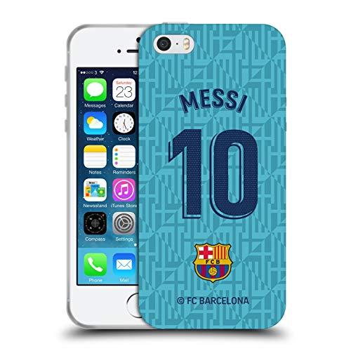 Head Case Designs Oficial FC Barcelona Lionel Messi 2019/20 Jugadores Tercer Kit Grupo 1 Carcasa de Gel de Silicona Compatible con Apple iPhone 5 / iPhone 5s / iPhone SE 2016