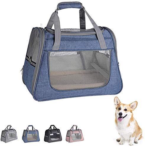 GTBF Portador portátil de la Bolsa de Perros de la Bolsa de Gato, Portador de Viajes de Mascotas Suave para Perros y Gatos Comfort Cuppy Bolsa de Asas Plegable Mochila