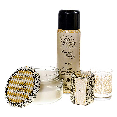Tyler Candle Home Fragrance Gift Set, Diva