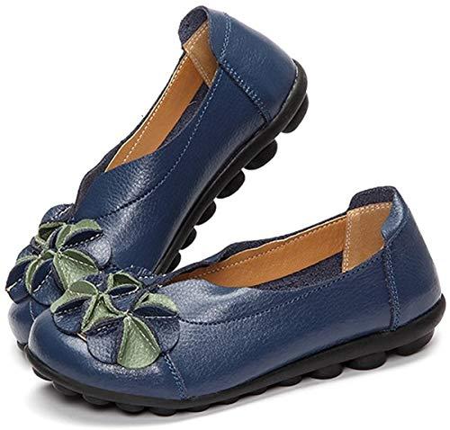 petit un compact Chaussures basses femme Gracosy ballerine hiver automne talons hauts en fleurs et cuir…