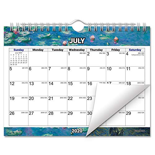 Small 8x6 Wall Calendar 2020 (Impressions) Monthly Bulletin Board Calendar, Use to December 2020, with Stickers for Small Wall Calendar, Hanging Monthly Mini Wall Calendar