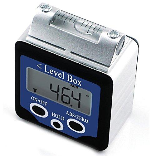 Inclinómetro De Ángulo De Nivel Digital De 360 ° Inclinómetro Con Imanes Tipo De Caja +/- 180 Grados De Precisión Caja De Bisel De 0,1 Grados Buscador De Ángulo De Nivel Pantalla LCD Grande