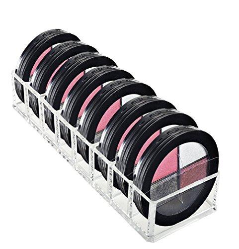 a-goo größere Größe Acryl Make-up Compact Powder, Halterung, Rouge, Textmarker Lidschatten Organizer bietet 8Platz, Speicher für Kosmetik Make-up Produkte