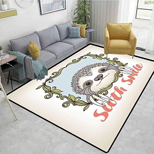 Bigdatastore - Alfombras de área con Bordes de Cielo, fotografía de Atardecer con Nubes Tropicales escénicas Hawaianas, Alfombra Duradera para salón, Comedor, Dormitorio, alfombras y alfombras