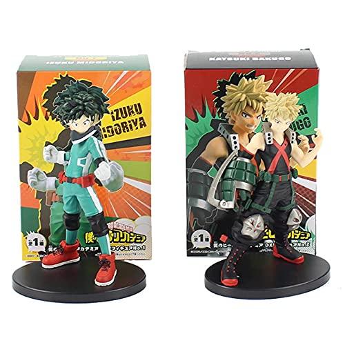 2 Unids / Set Figura De Mi Héroe Academia Midoriya Izuku Bakugou Katsuki Boku 15Cm PVC Colección Modelo Figuras Juguetes Regalo