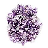 Wifehelper Chips de Piedra Caídos Triturada Cristal Natural Cuarzo Cristal Pequeño Pequeño Caída Piedras Preciosas 100 g Bolsos de Manojo(Morado)