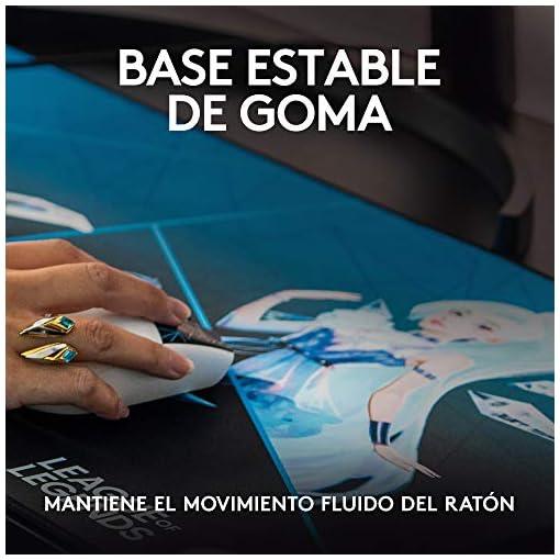 Logitech G840 K/DA XL Alfombrilla de ratón para Gaming, 3 mm de Grosor, Base de Goma Estable, Equipo de Juego Oficial de… 5
