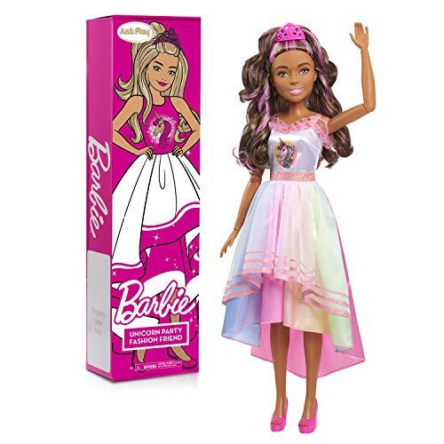 Barbie 28-inch Best Fashion Friend Unicorn Power Doll, Brown Hair, Amazon Exclusive