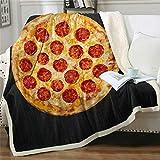 Manta Pizza Negra Mantas De Sofa Suave Y Suave para Mantener El Calor Manta Sofa Mantas para Sofa Adecuado para Dormitorio 100x150