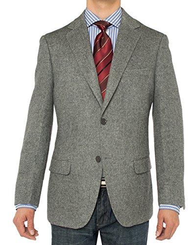 Luciano Natazzi Men's 2 Button Luxe Camel Hair Suit Jacket Sport Coat Blazer (48 Regular US / 58R EU, Gray)