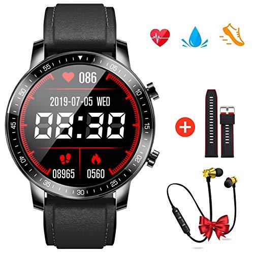 Smartwatch Orologio Fitness Tracker Uomo Donna, Smartband Sportivo Activity Tracker Contapassi Cronometro Notifiche Messaggi Controller Fotocamera, smartwatch per Android iOS Xiaomi (nero)