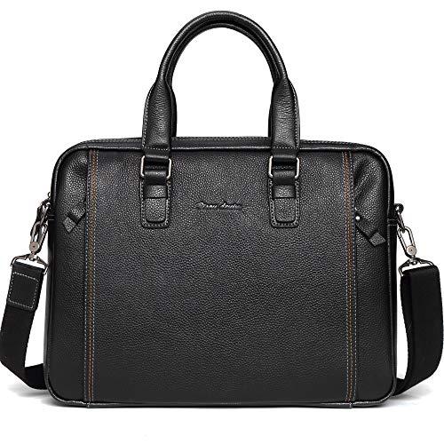 Bison Denim Ledertasche Aktentasche Laptoptasche Umhängetasche Messenger Bag Business Tote Arbeitstasche