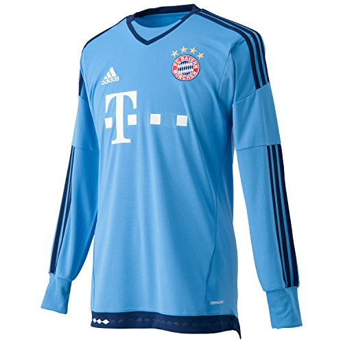 adidas Herren Langarm Torwart-heimtrikot FC Bayern München Replica, blau (Lucky Blue/Dark Blue), 2XL, S08660