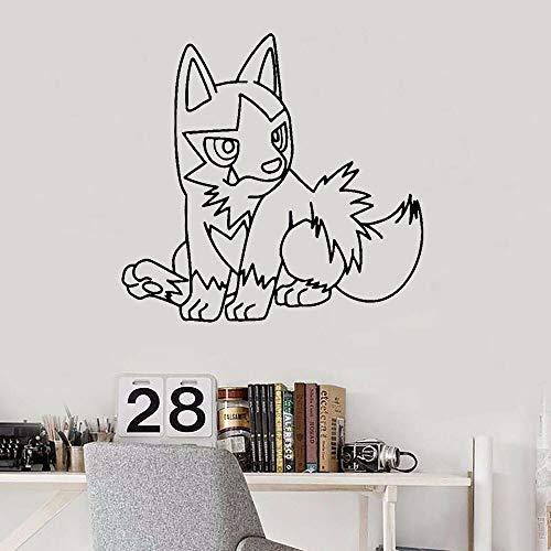 Pegatinas de pared Decoración de habitación de niños Mascotas Pequeño Anime Arte Pegatinas de pared Decoración de la casa Pegatinas de dormitorio de dibujos animados Anime