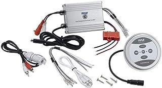 Pyle PLMRMBT5S Marine Grade 600 Watt Amp Bluetooth 2-Channel Amplifier (Silver)