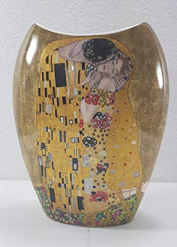 P1 Elegante Vase Gustav Klimt - Der Kuss Blumenvase Dekovase Groß