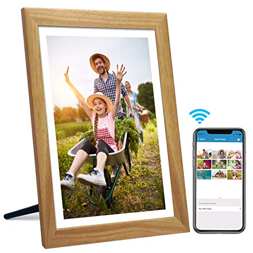 15.6 Inch 16GB WiFi Digital Picture Frame with Full HD 1920x1080 IPS Touch Screen, Send Photos or Small Videos from Anywhere in The World, Auto-Rotate,Wall Mountable, Portrait and Landscape Digital Frames Picture