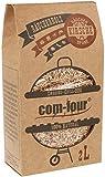 com-four® 500 g Bonificación de Chips de Madera de Cerezo para Fumar - 100% Natural - para ahumadores, Pelotas, pedestales y Parrillas a Gas