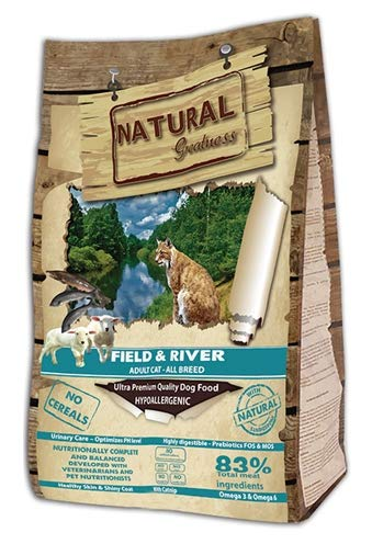 Natural Greatness Pienso Seco para Gatos Receta Field & River. Ultra Premium - Adult Cat -Todas Las Razas - 600 g