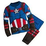 Marvel Captain America Costume PJ PALS Pajamas for Boys Size 5,Multicolor