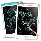 Richgv 2 Piezas Tableta de Escritura LCD Pizarra Infantil 8.5 Pulgadas Libre de Radiación Pizarra Electrónica para Niños Tabletas Gráficas Juguetes de Viaje para niños(Azul y Rosa)