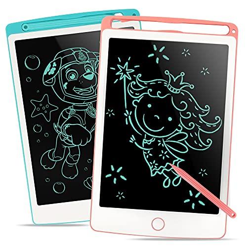 Richgv Tavoletta Grafica LCD Scrittura Digitale, 2pcs Elettronico 8.5Pollici Portatile Ewriter Cancellabile Disegno Pad Writing Tablet con Stilo per Bambini Adulti della Casa Scuola Ufficio